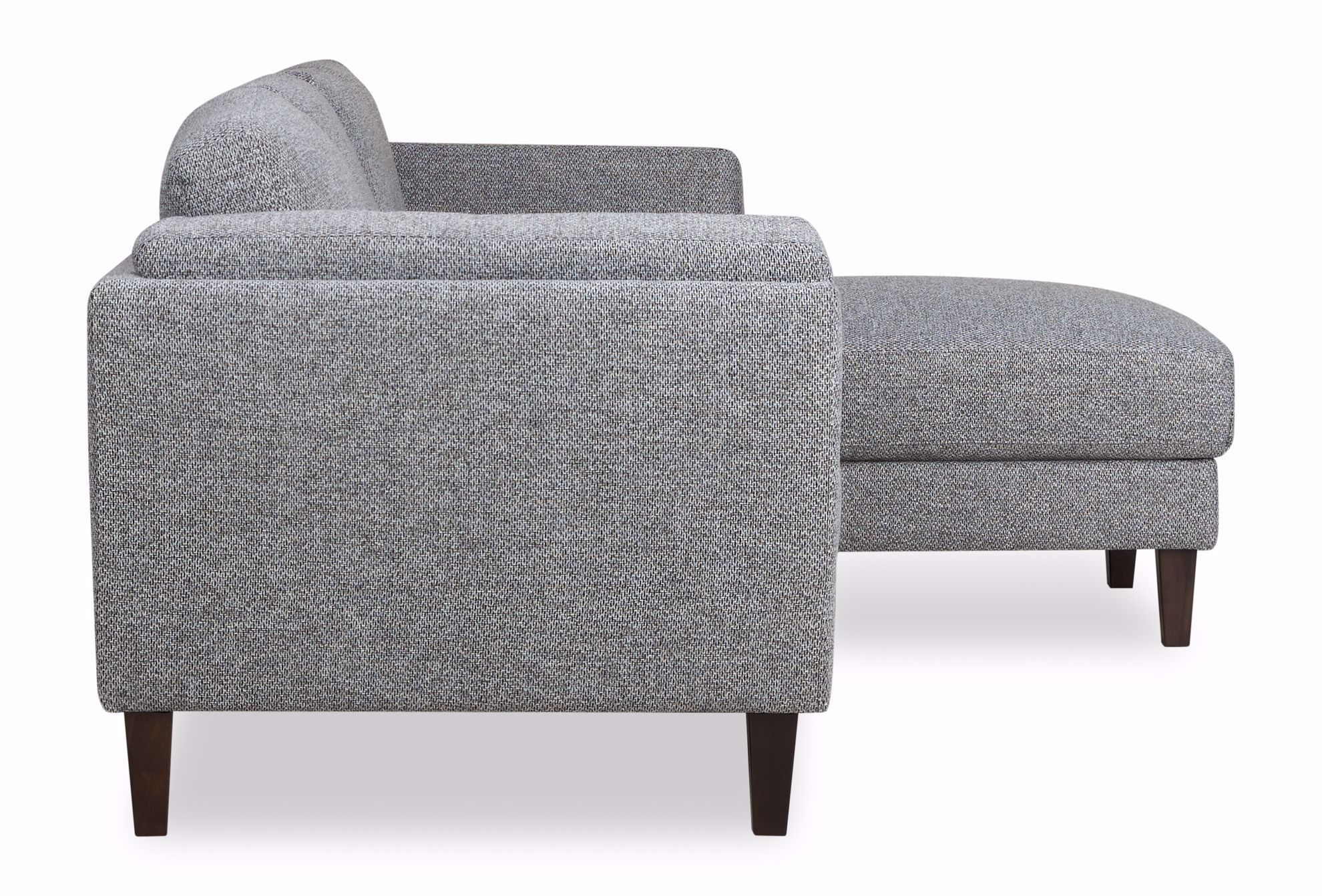 Picture of Hughes Grey Tweed 2-Piece Sectional
