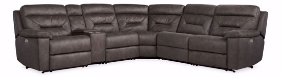 Picture of Lissom Bronze 6-Piece Power Reclining Sectional