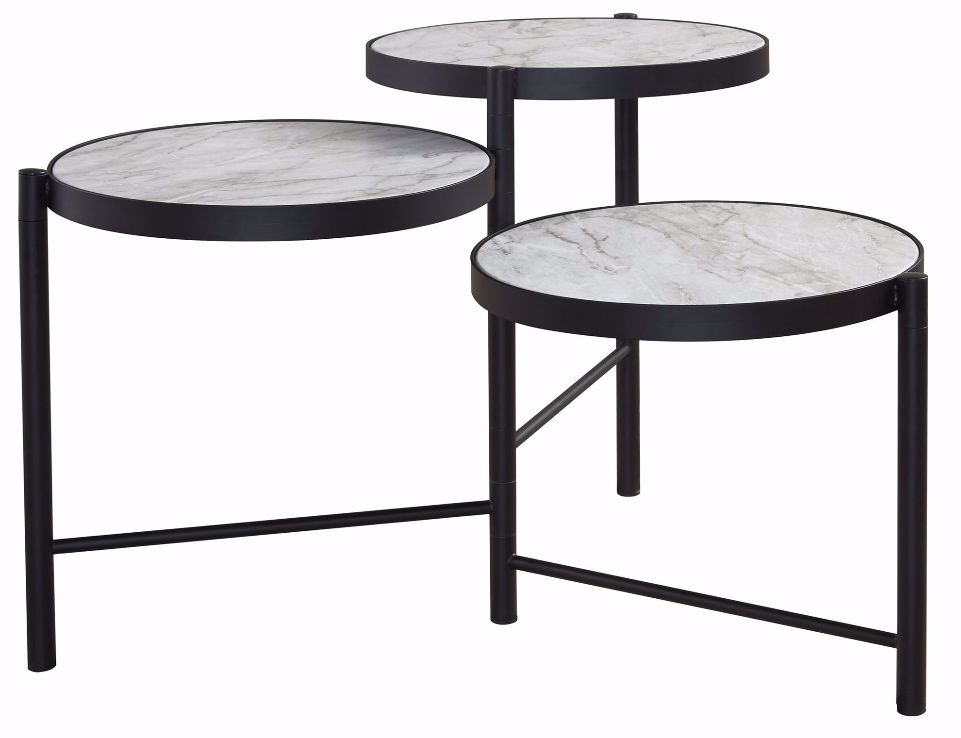 Picture of Plannore Black-White Round Cocktail Table