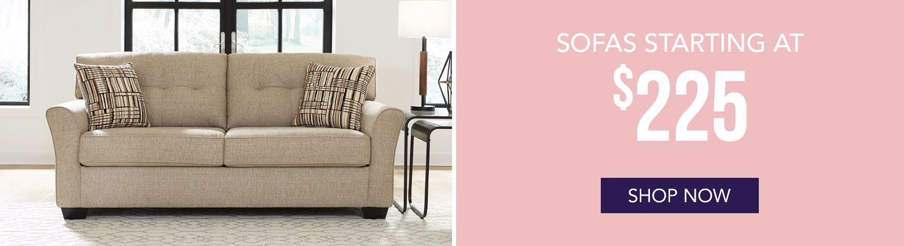 Sofas Starting at $225