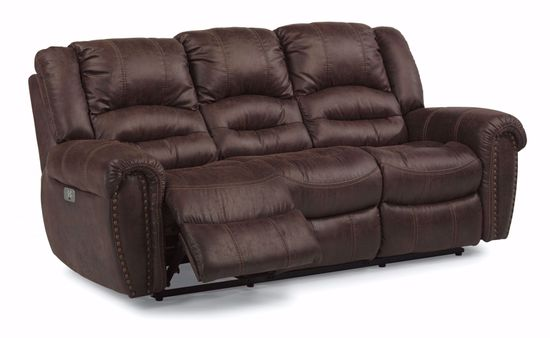 Picture of Town Brown Reclining Sofa