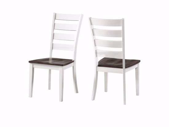 Picture of Kona White & Grey Ladder Back Side Chair