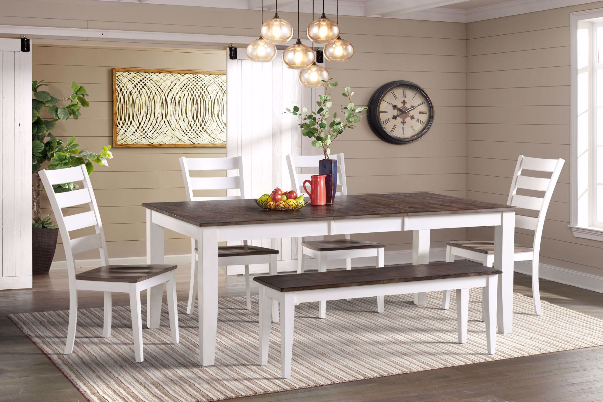 Picture of Kona White & Grey Dining Backless Bench