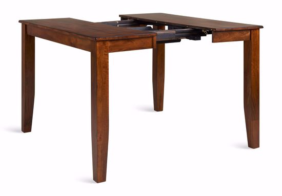 Picture of Light Mango Counter Table with Four Stools and One Bench