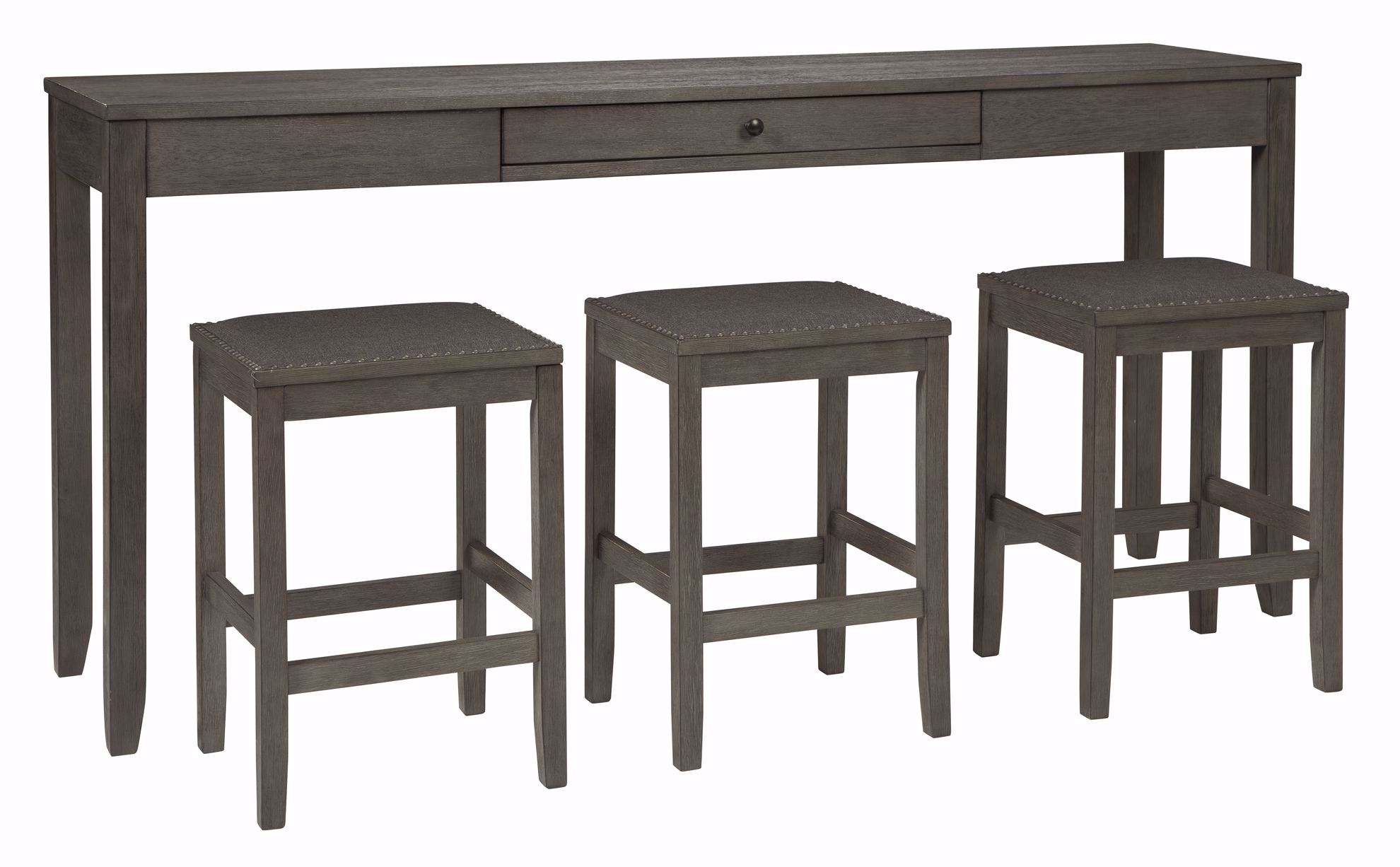 Picture of Caitbrook Sofa Bar Table & 3 Stool Set