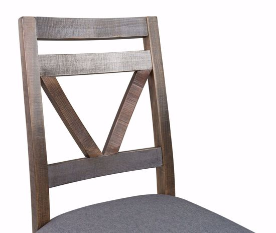 Picture of Loft Brown Grey Wood Chair