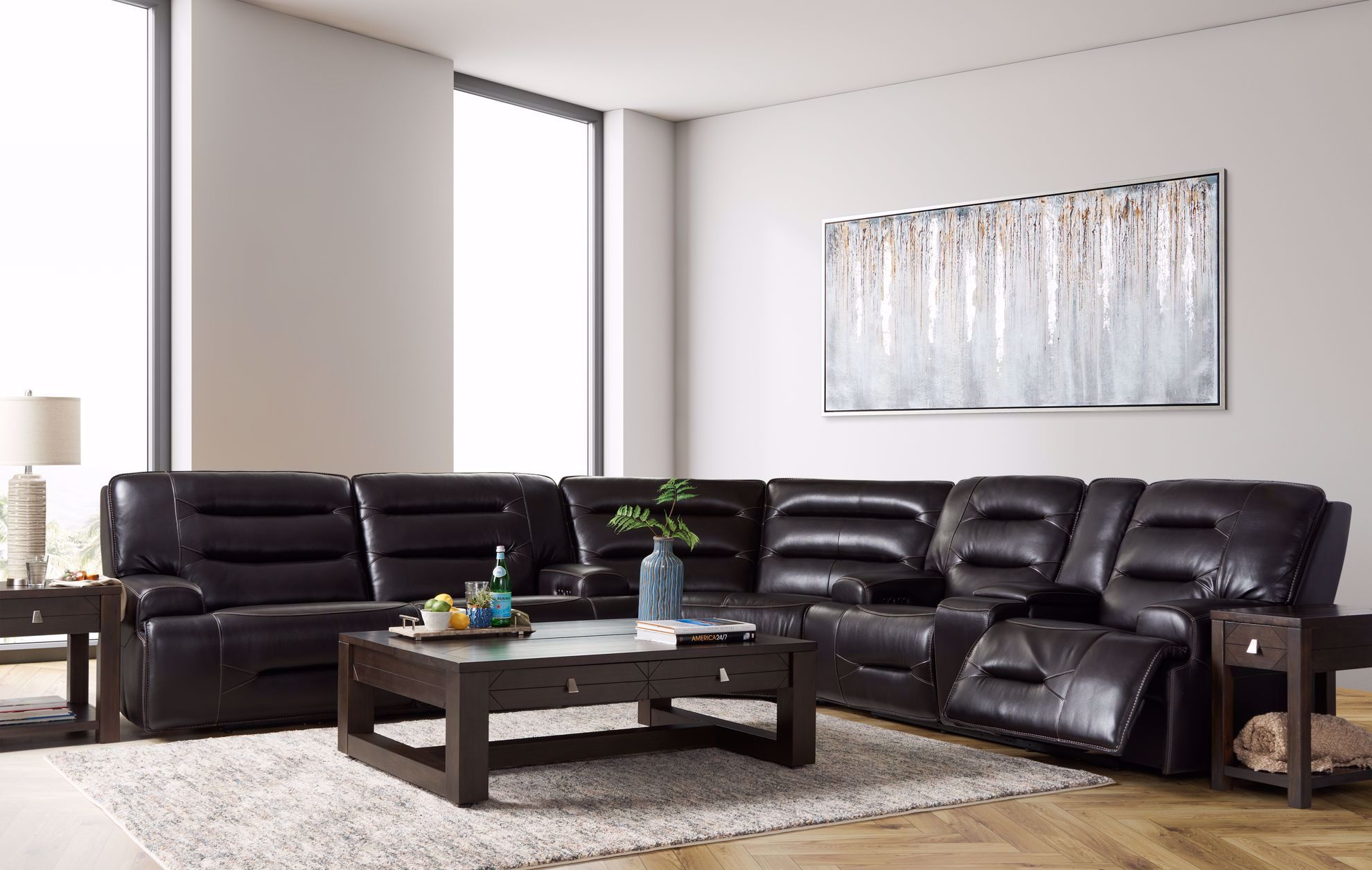 Picture of Marta Blackberry 3-Piece Sectional