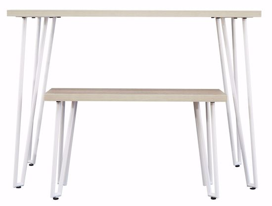Picture of Blariden White Desk with Bench