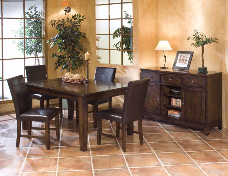 Picture of Kona Mango Table with Four Parson Chairs