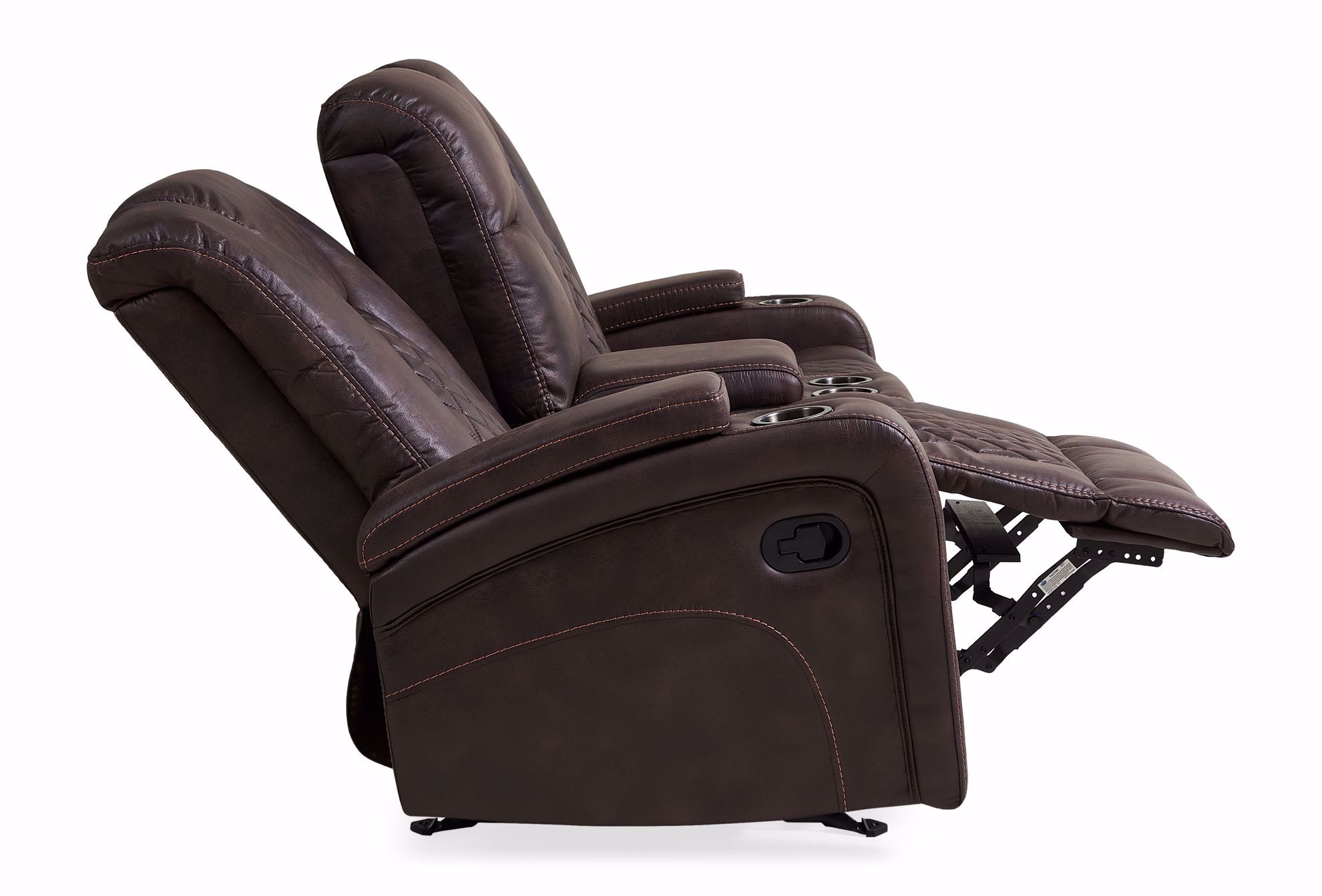 Picture of Wyatt Brown Glider Loveseat with Console