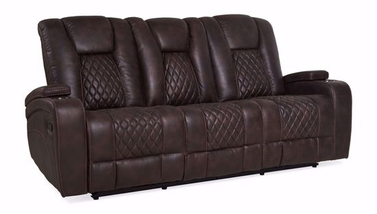 Picture of Wyatt Brown Reclining Sofa with Drop-Down Table