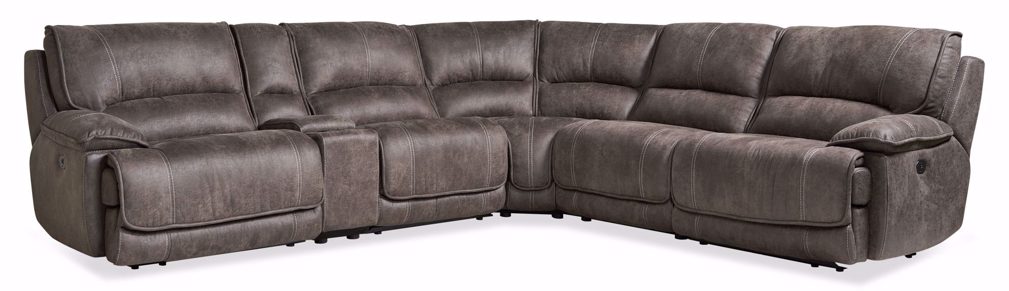Picture of Lewis Mink Power Recline 6-Piece Sectional