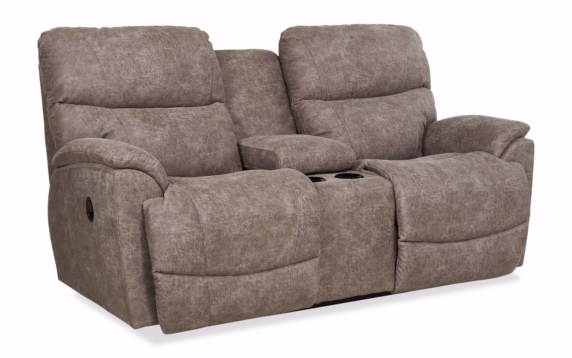 Picture of Trouper Sable Reclining Loveseat with Console