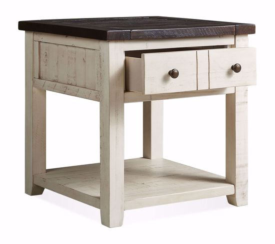 Picture of Madison County White End Table
