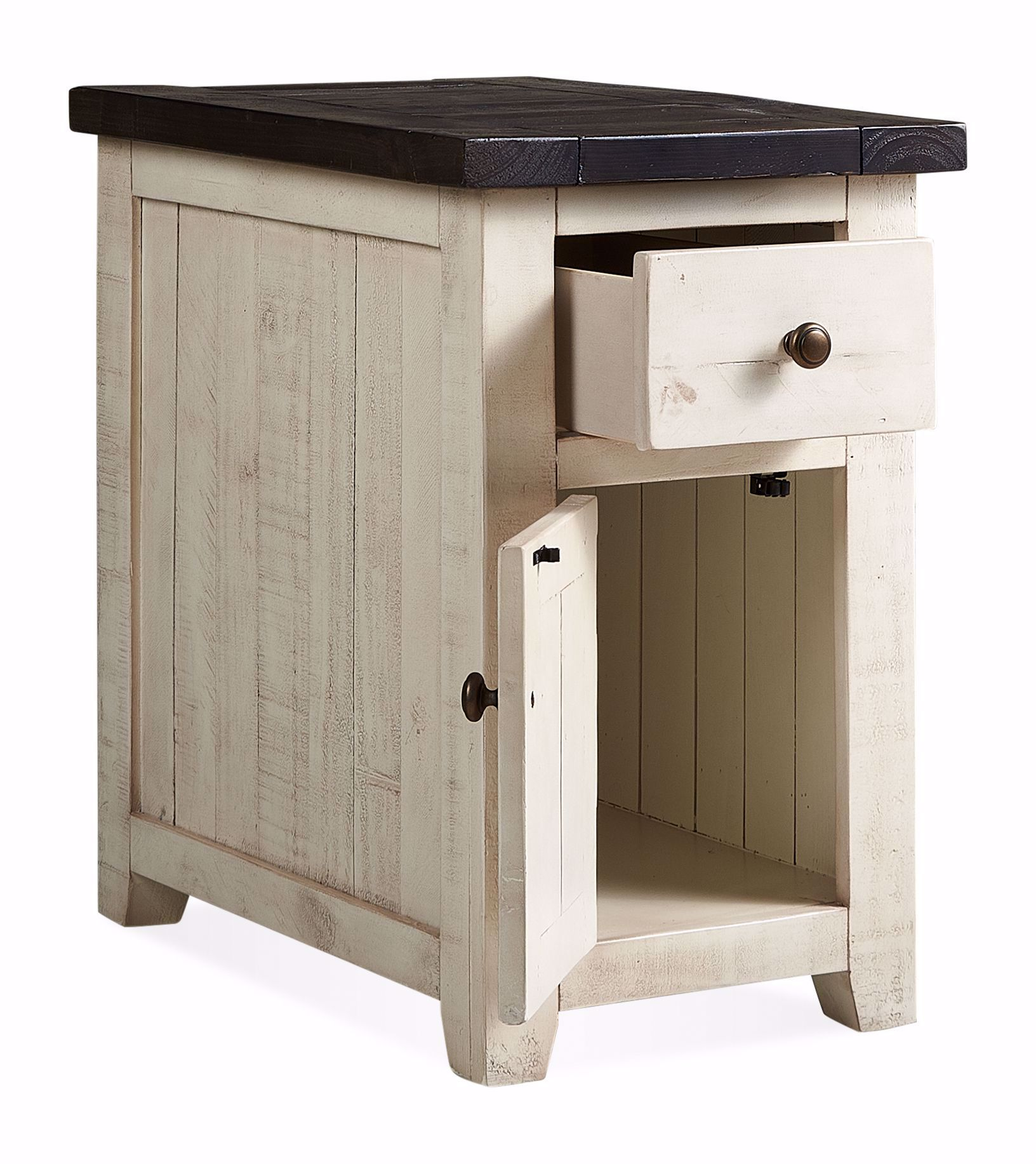 Picture of Madison County White Chairside Table