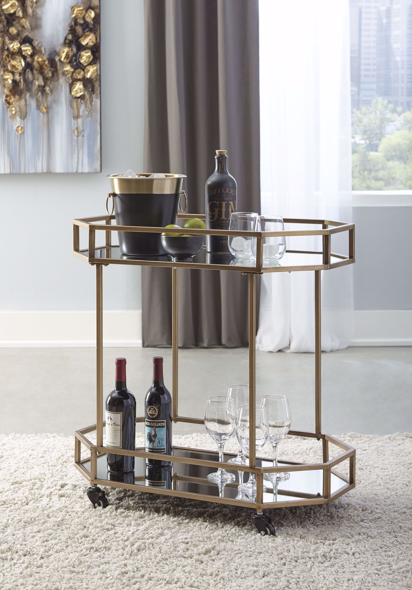 Picture of Daymont Gold Bar Cart