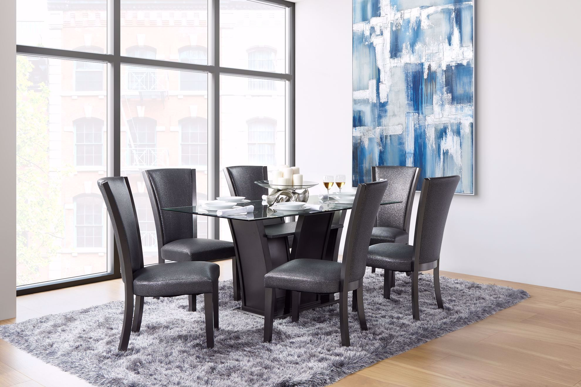 Picture of Platina Grey Dining Table & 6 Chairs