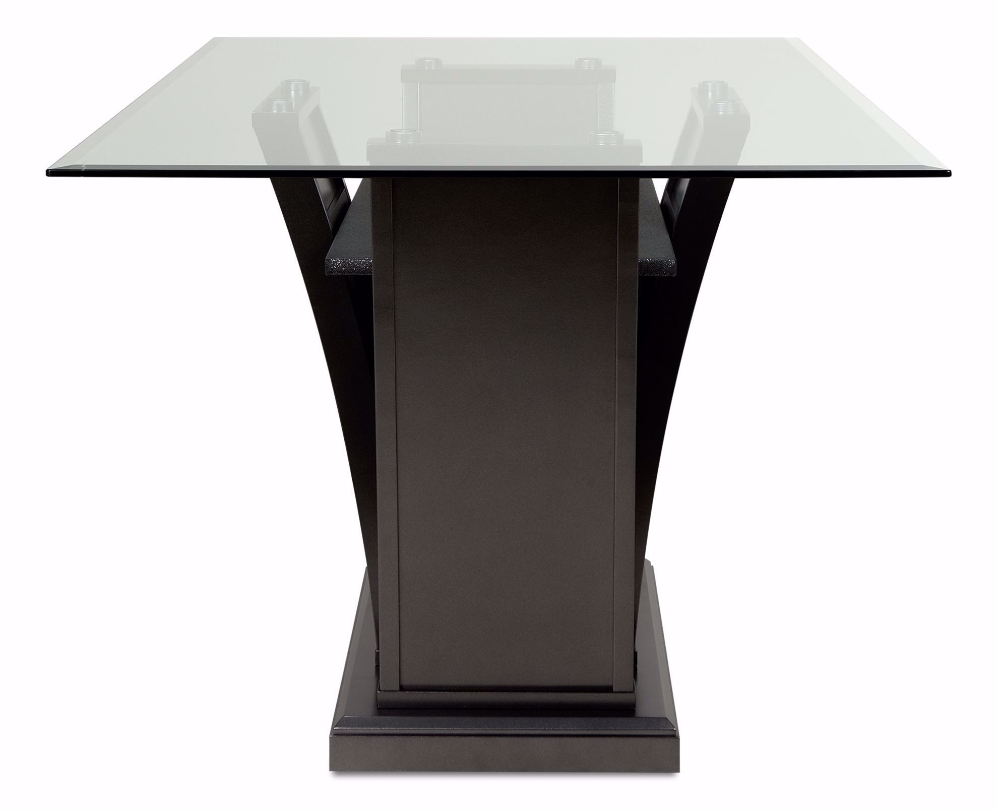 Picture of Platina Grey Glass Dining Table