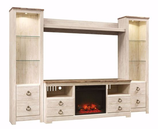 Picture of Willowton Entertainment Wall with Fireplace