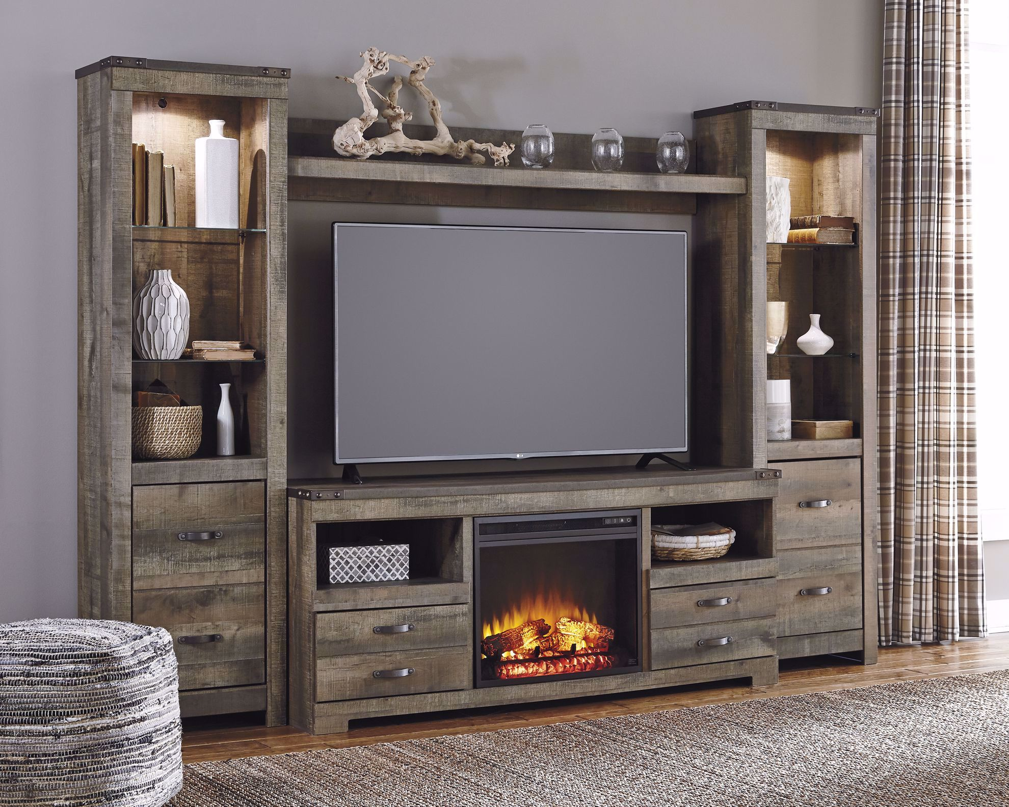 Picture of Trinell Entertainment Wall with Fireplace