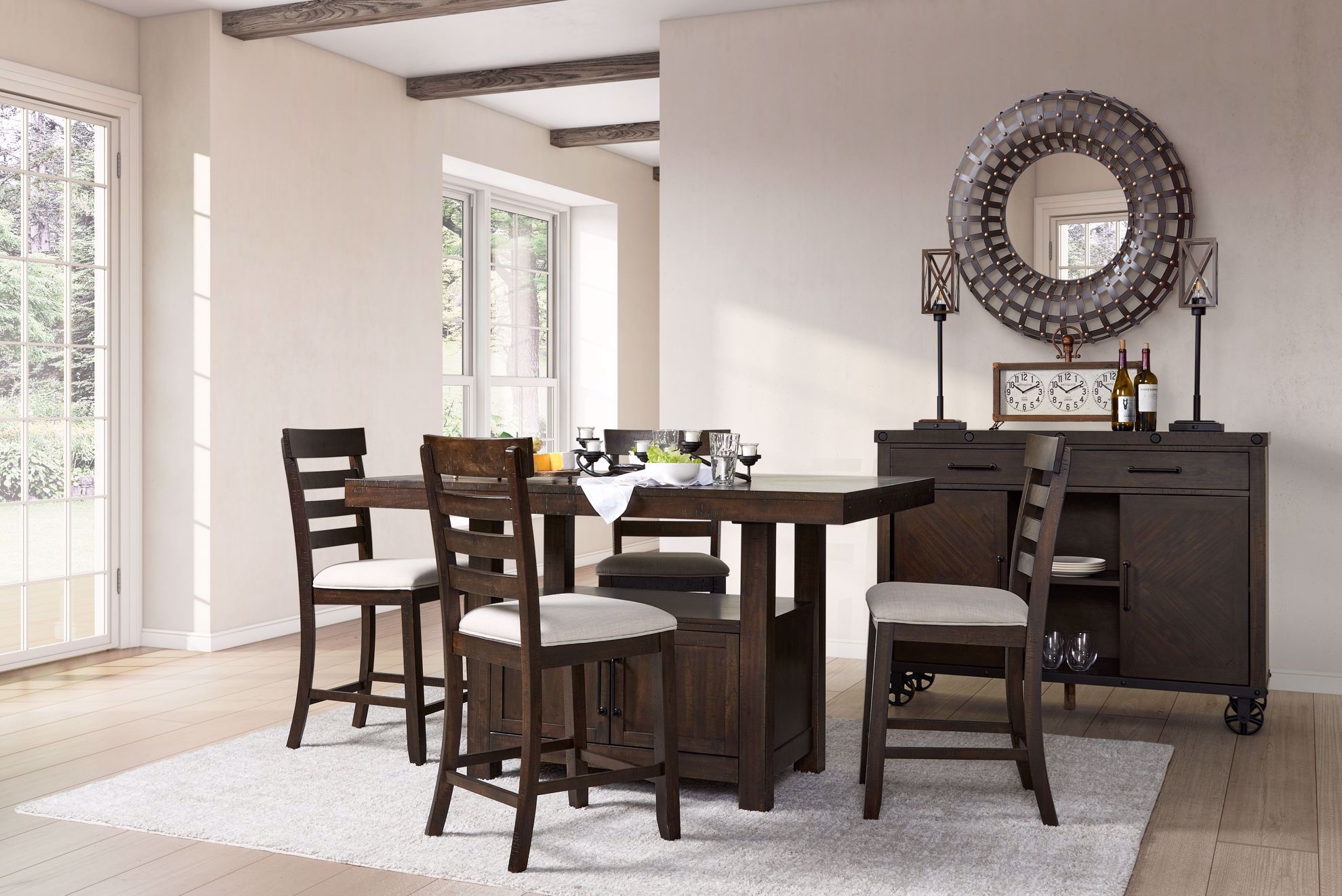 Picture of Colorado Counter Height Table with Four Chairs