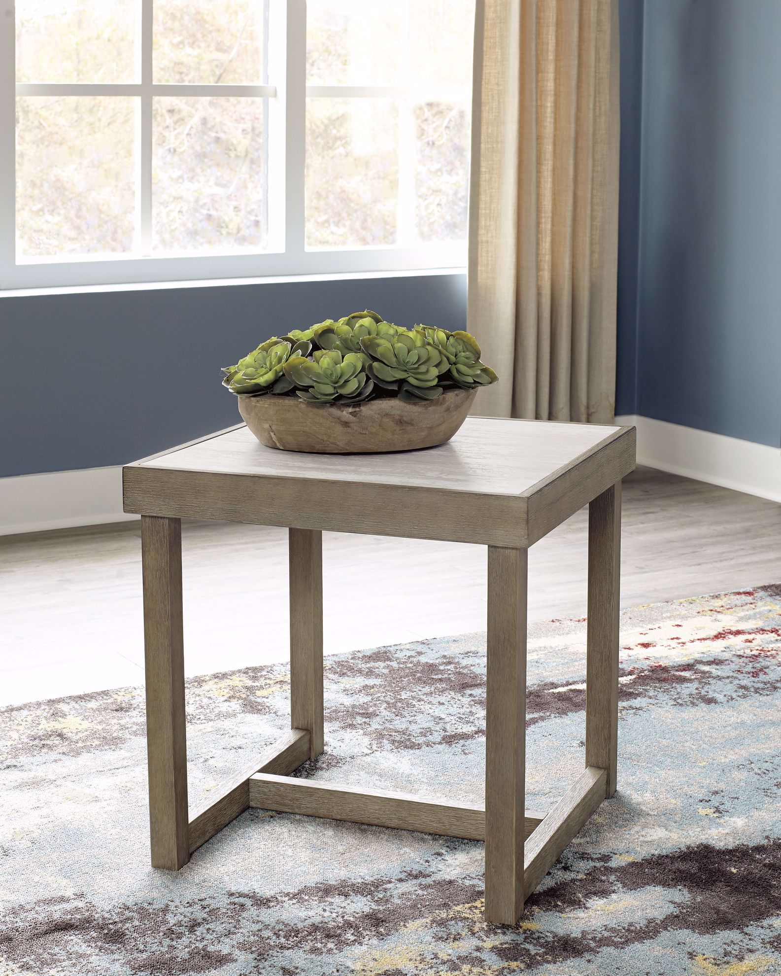 Picture of Challene Light Grey Square End Table