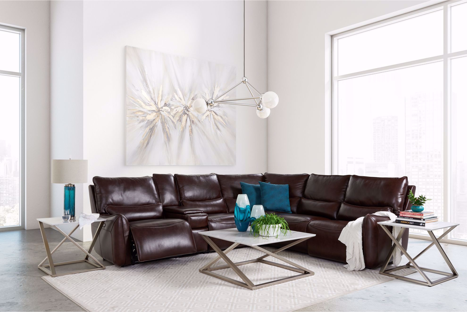 Picture of Ponderosa Walnut 6-Piece Power Reclining Sectional