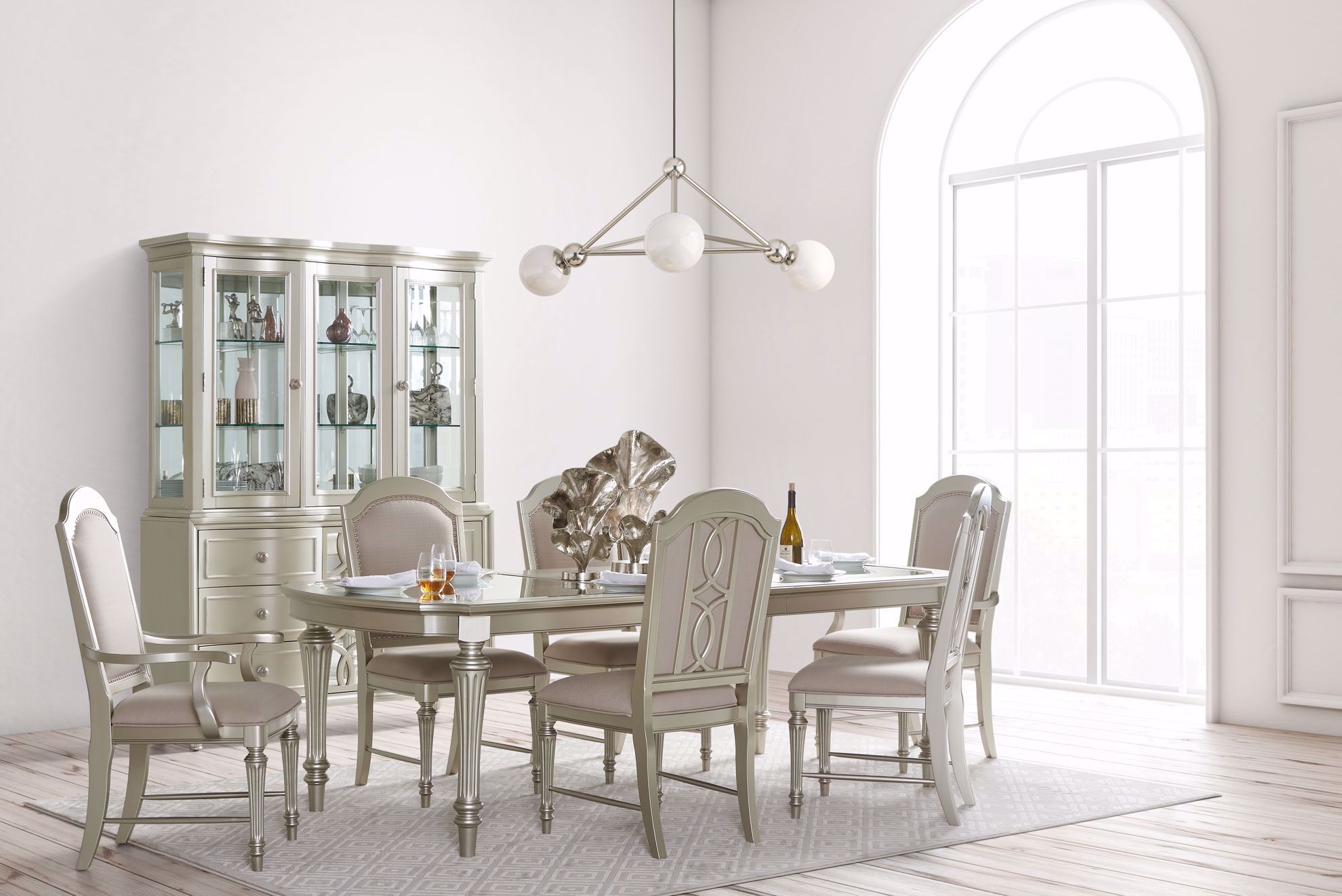 Picture of Regency Park Table with Four Side Chairs and Two Arm Chairs