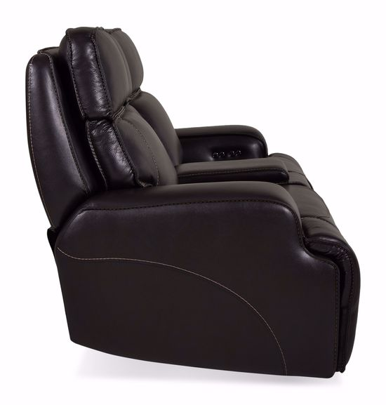 Picture of Sienna Blackberry Power Reclining Loveseat with Console