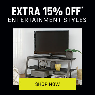 Extra 15% off* Entertainment Styles