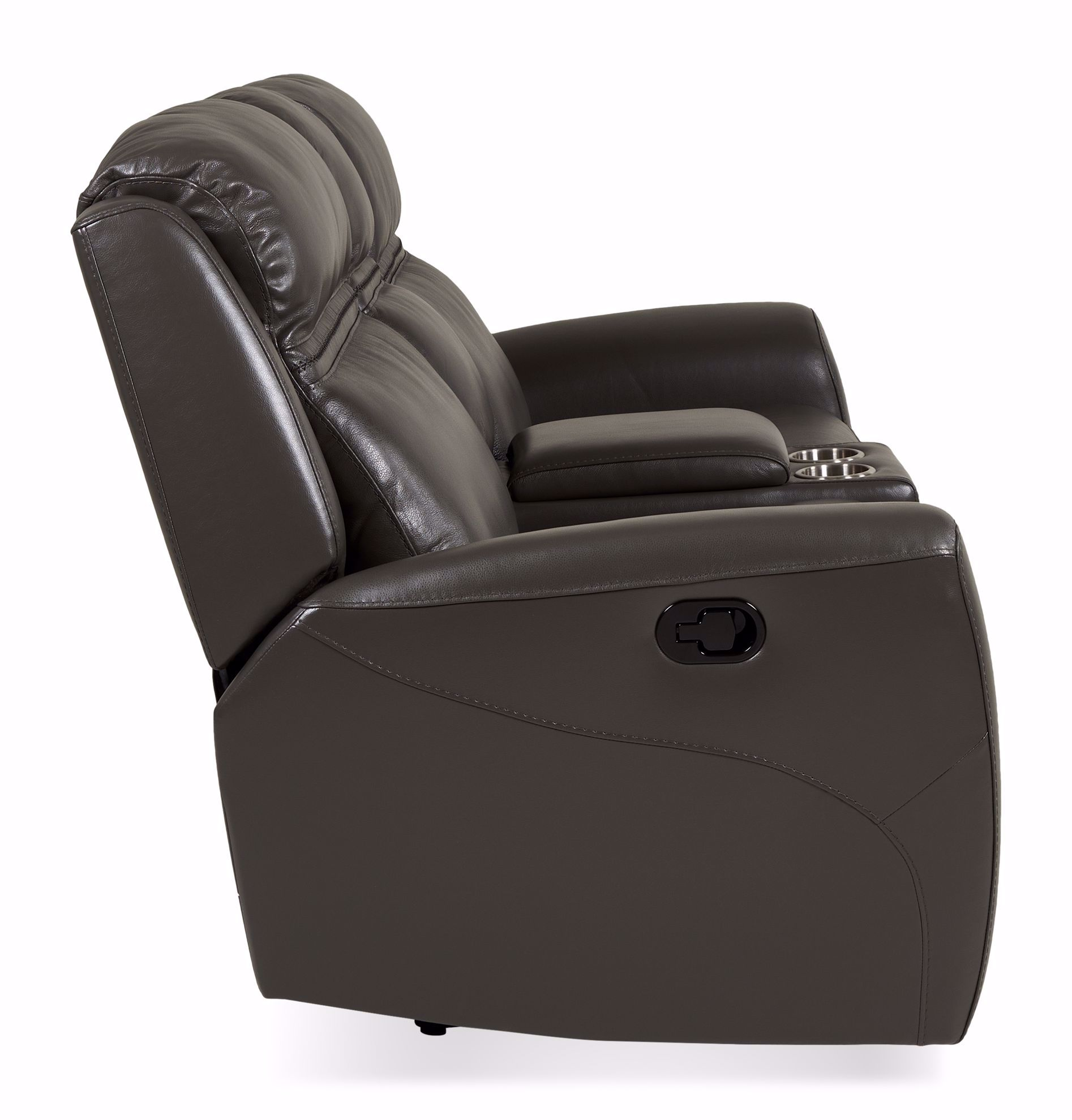 Picture of Denali Grey Reclining Loveseat with Console