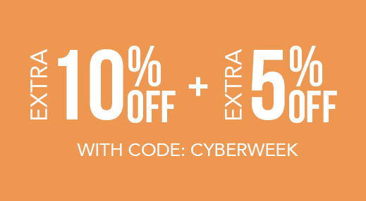 Extra 10% Off + Extra 5% Off with code: CYBERWEEK