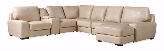 Picture of Softee Ivory 7-Piece Sectional