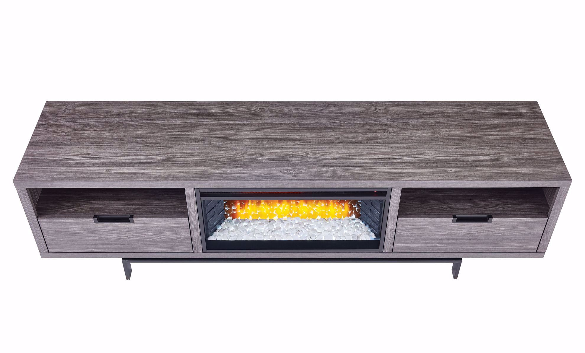 Picture of Wynwood Grey TV Stand with Fireplace