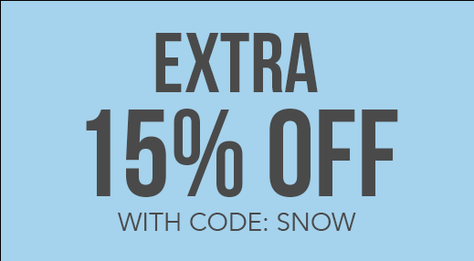 Extra 15% off* with code: SNOW