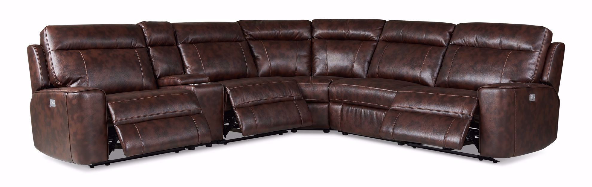 Picture of Kelly Tobacco Power Reclining 6-Piece Sectional