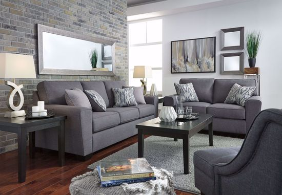 Picture of Calion Gunmetal Sofa
