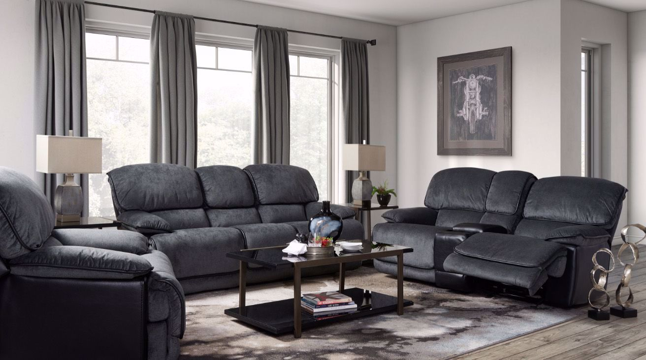 Picture of Remi Kohl Black Reclining Sofa