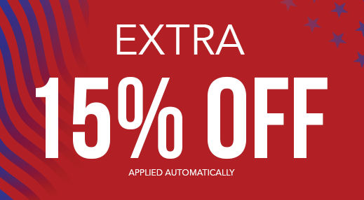 Extra 15% off applied automatically