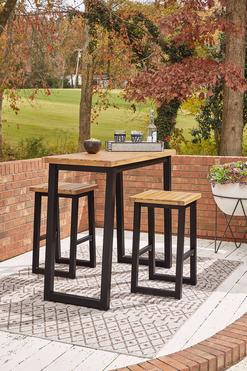 Picture of Town Wood Counter Table and Stools Set