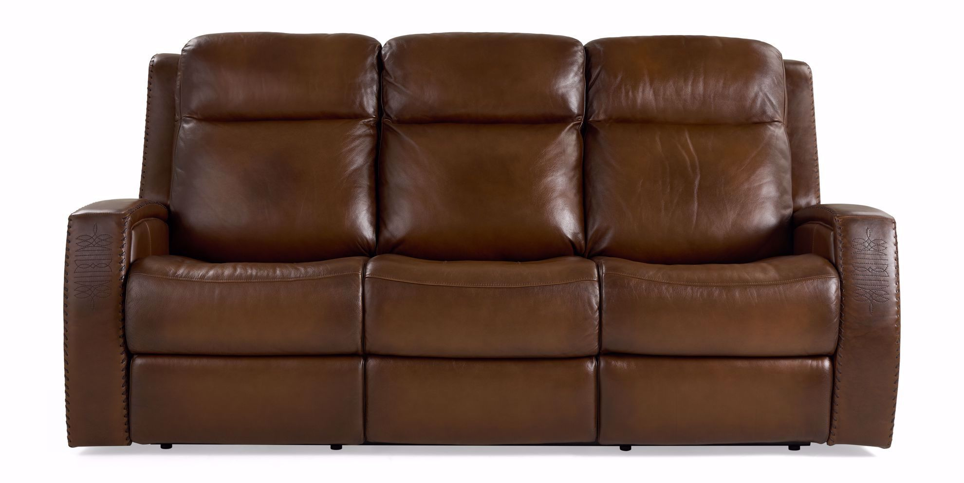 Picture of Mustang Brown Power Reclining Sofa