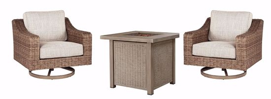 Picture of Lyle Square Firepit Table with 2 Chairs