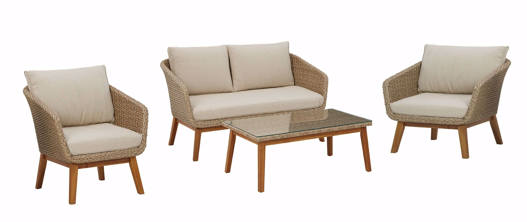 Picture of Crystal Cave Cocktail Table, Loveseat, and 2 Chairs