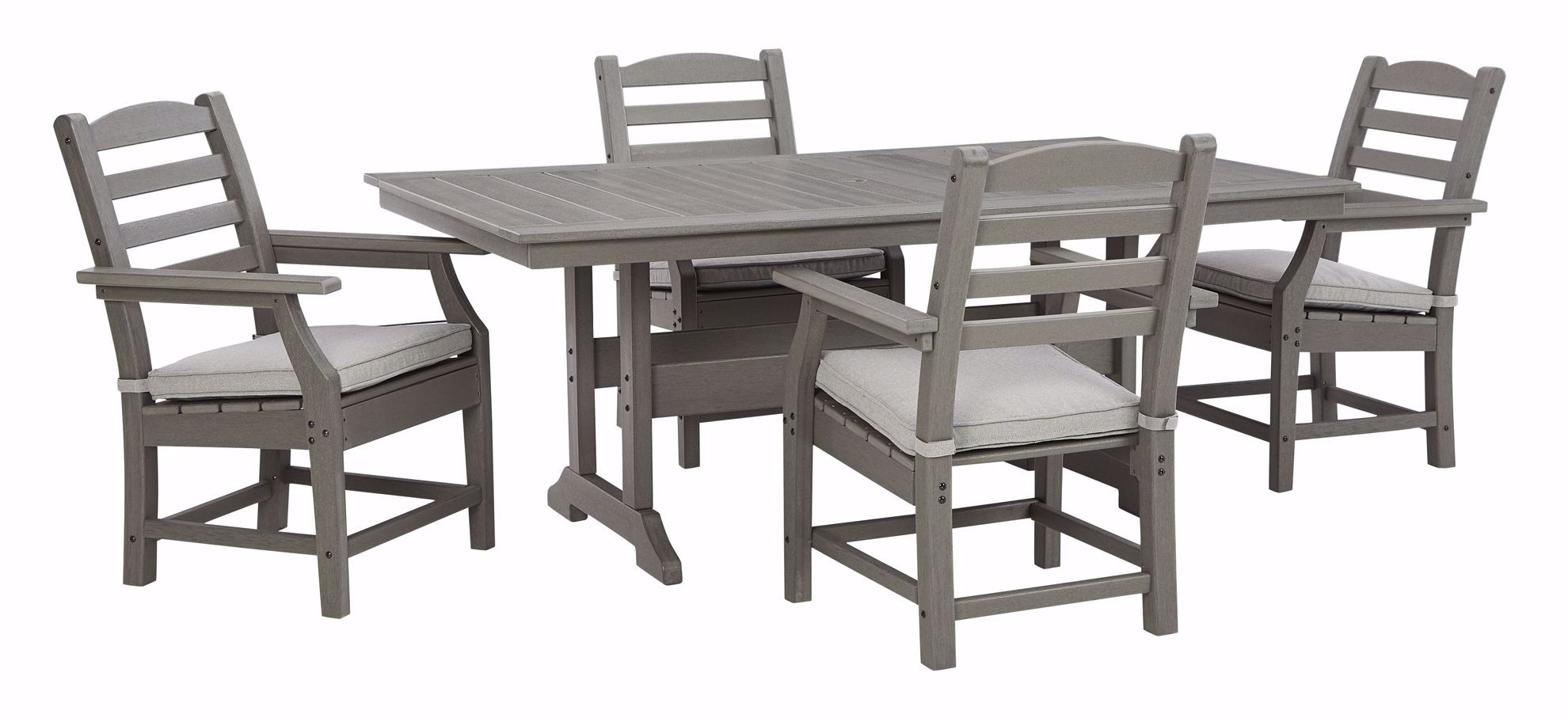 Picture of Visola Dining Table & 4 Arm Chairs