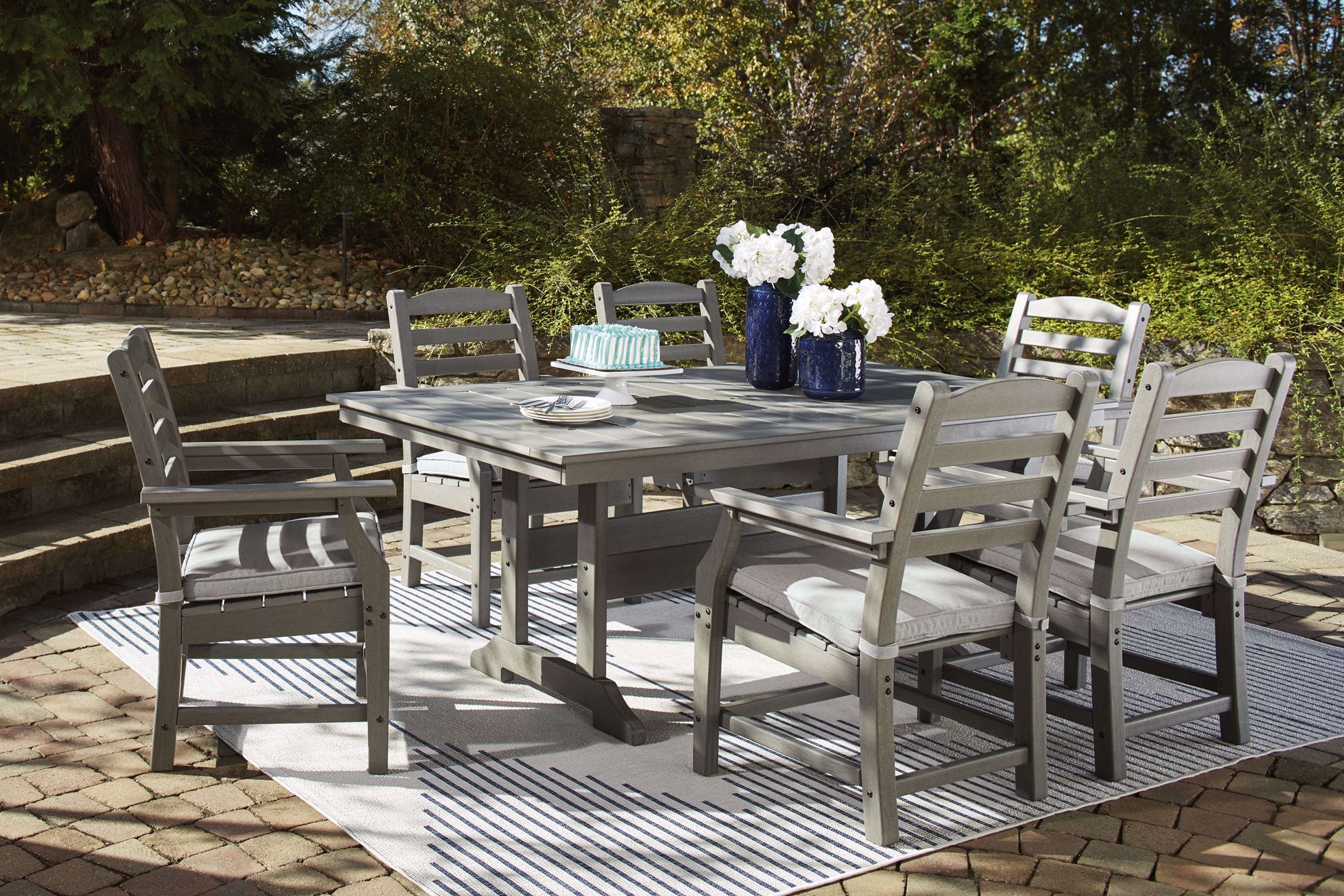 Picture of Visola Dining Table & 6 Arm Chairs