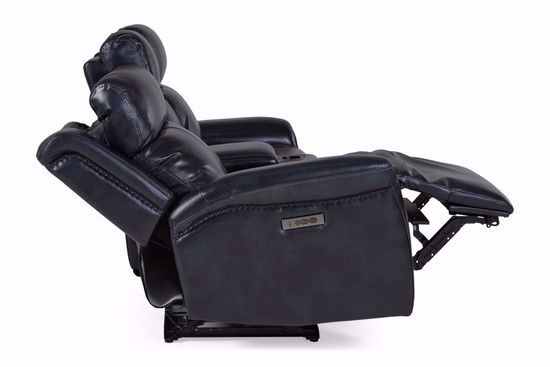 Picture of Potter Navy Power Reclining Loveseat with Console