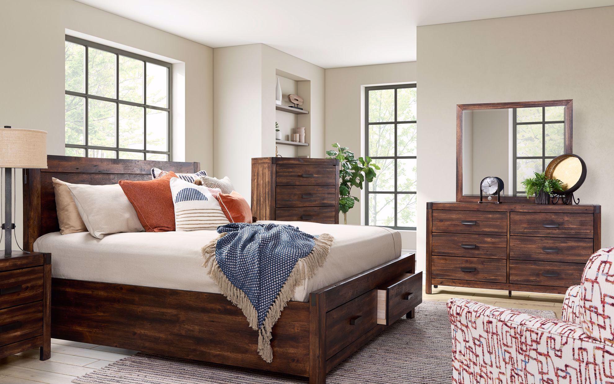 Picture of Warner Chestnut King Storage Bedroom Set