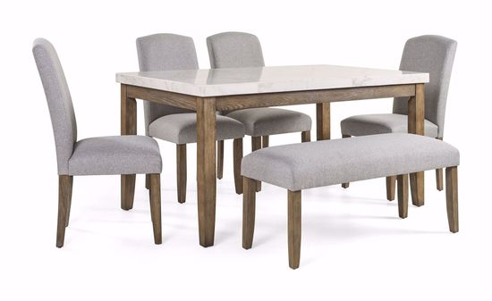 Picture of Emily Marble Table with 4 Chairs & 1 Bench