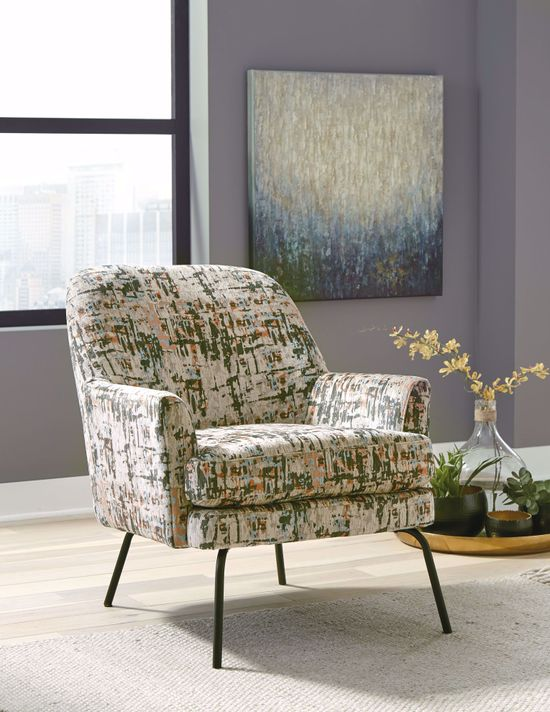 Picture of Dericka Beige Green Accent Chair