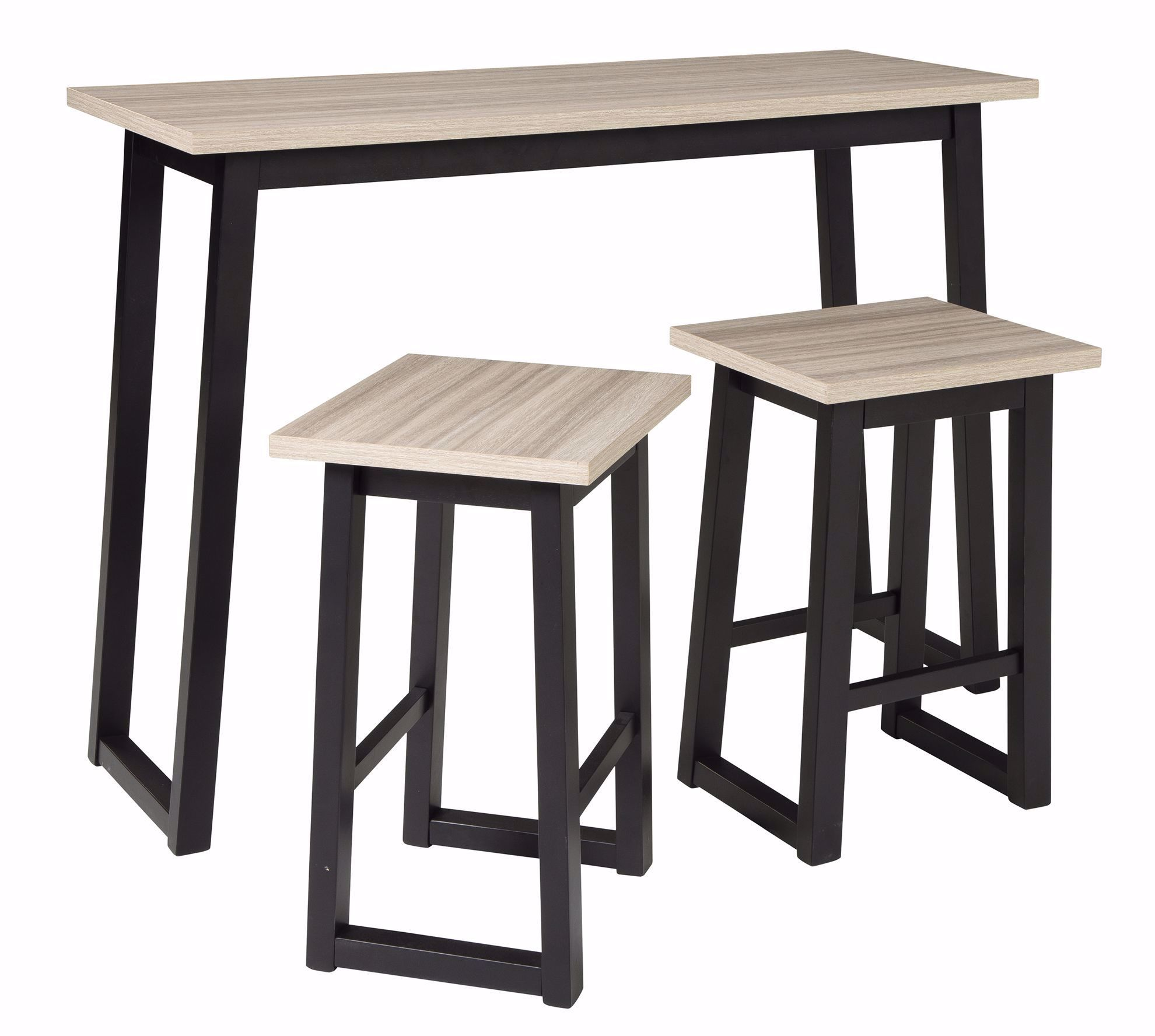 Picture of Waylowe Sofa Bar Table Two Stool Set